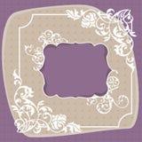 Frame decorativo abstrato Imagens de Stock Royalty Free