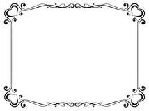 Frame decorativo com coração ilustração royalty free