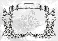 Frame decorativo com teste padrão Imagens de Stock