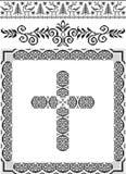 Frame decorativo com uma cruz. Artes gráficas. Imagem de Stock Royalty Free