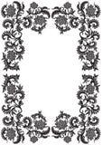 Frame decorativo decorativo abstrato com flor, illustr do vetor Fotos de Stock