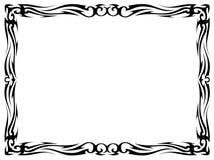 Frame decorativo decorativo do tatuagem preto simples Imagens de Stock Royalty Free