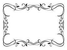 Frame decorativo decorativo floral ilustração stock