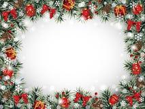 Frame decorativo do Natal Fotografia de Stock Royalty Free