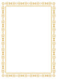 Frame decorativo do ornamento - ouro Imagens de Stock