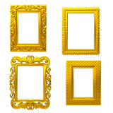 Frame decorativo do ouro Fotos de Stock