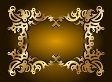 Frame decorativo do ouro para o texto. Vetor Fotografia de Stock
