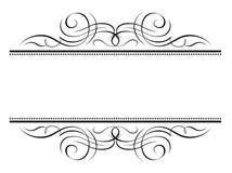 Frame decorativo do penmanship da vinheta ilustração do vetor