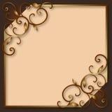 Frame decorativo do vintage Fotografia de Stock Royalty Free