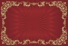 Frame decorativo dourado Fotografia de Stock