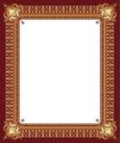Frame decorativo dourado luxuoso ilustração do vetor
