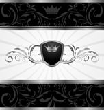 Frame decorativo escuro ornamentado Fotos de Stock Royalty Free