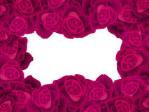 Frame with deep red roses Royalty Free Stock Photos