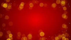 Frame of defocused lights on red loopable background 4k (4096x2304) stock video footage