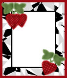 Frame design for baby photo memories scrapbook illustration with Stock Photography