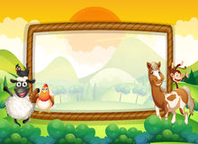 Frame design with farm animals Royalty Free Stock Image