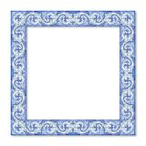 Frame design with typical portuguese decorations called. `azulejos Royalty Free Stock Image