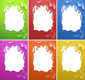 Frame design with watercolor melting Royalty Free Stock Image