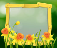 Frame design with yellow flowers Stock Photos