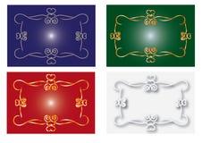 Frame designs. Calligraphic border and frame designs royalty free illustration