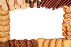 Frame from different biscuits Royalty Free Stock Photos