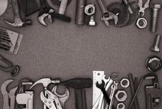 Different hand tools Royalty Free Stock Image