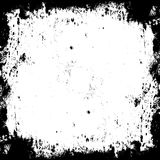 Frame dirt distressed texture. White blank background. Grunge black dirty background. Royalty Free Stock Photography