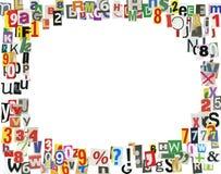 Frame do ABC do jornal Foto de Stock Royalty Free
