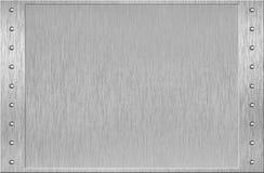 Frame do alumínio ou do metal com rebites Fotografia de Stock Royalty Free