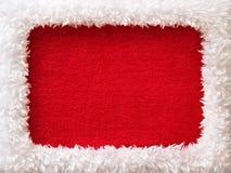 Frame do ano novo com espaço vazio vermelho Fotos de Stock Royalty Free