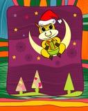Frame do ano novo com o touro amarelo Ilustração do Vetor