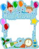 Frame do ano novo feliz ilustração stock