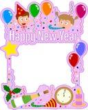 Frame do ano novo feliz [menina] ilustração royalty free