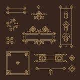 Frame do art deco Elementos do projeto do vintage Quadros do vetor ilustração royalty free