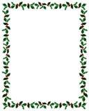 Frame do azevinho do Natal com trajeto do grampo Foto de Stock