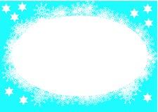 Frame do azul do Natal Fotografia de Stock Royalty Free