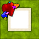 Frame do balão do coração Fotos de Stock Royalty Free