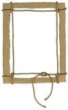 Frame do cartão para fotos com uma corda Imagem de Stock Royalty Free