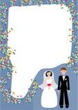 Frame do casamento ilustração do vetor