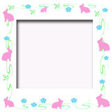 Frame do coelho de Easter Foto de Stock Royalty Free