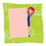 Frame do convite Imagens de Stock