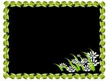 Frame do copo e da flor Ilustração Stock