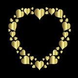 Frame do coração Fotos de Stock