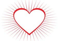 Frame do coração Fotografia de Stock Royalty Free