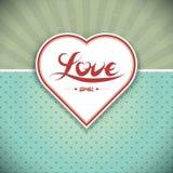Frame do coração de Grunge. Cartão do presente. Foto de Stock Royalty Free