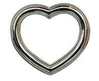 Frame do coração do cromo fotos de stock royalty free