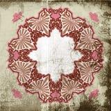 Frame do coração do Victorian de Grunge ilustração stock