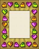 Frame do coração Imagens de Stock