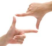 Frame do dedo Imagens de Stock
