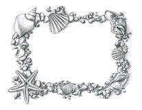 Frame do escudo Imagens de Stock